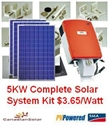 Picture of 5KW Canadian Solar System Kit